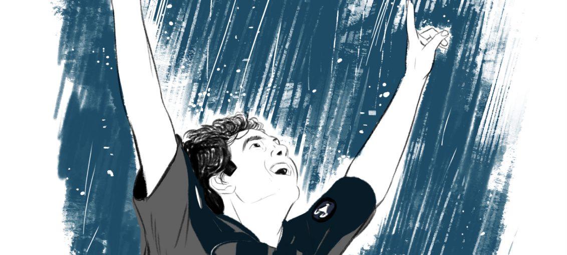 """Kakà, illustrazione Mario Monno ne """"La magia del numero 10"""""""